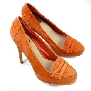 Dolce Vita Orange Suede Pumps Size 8.5